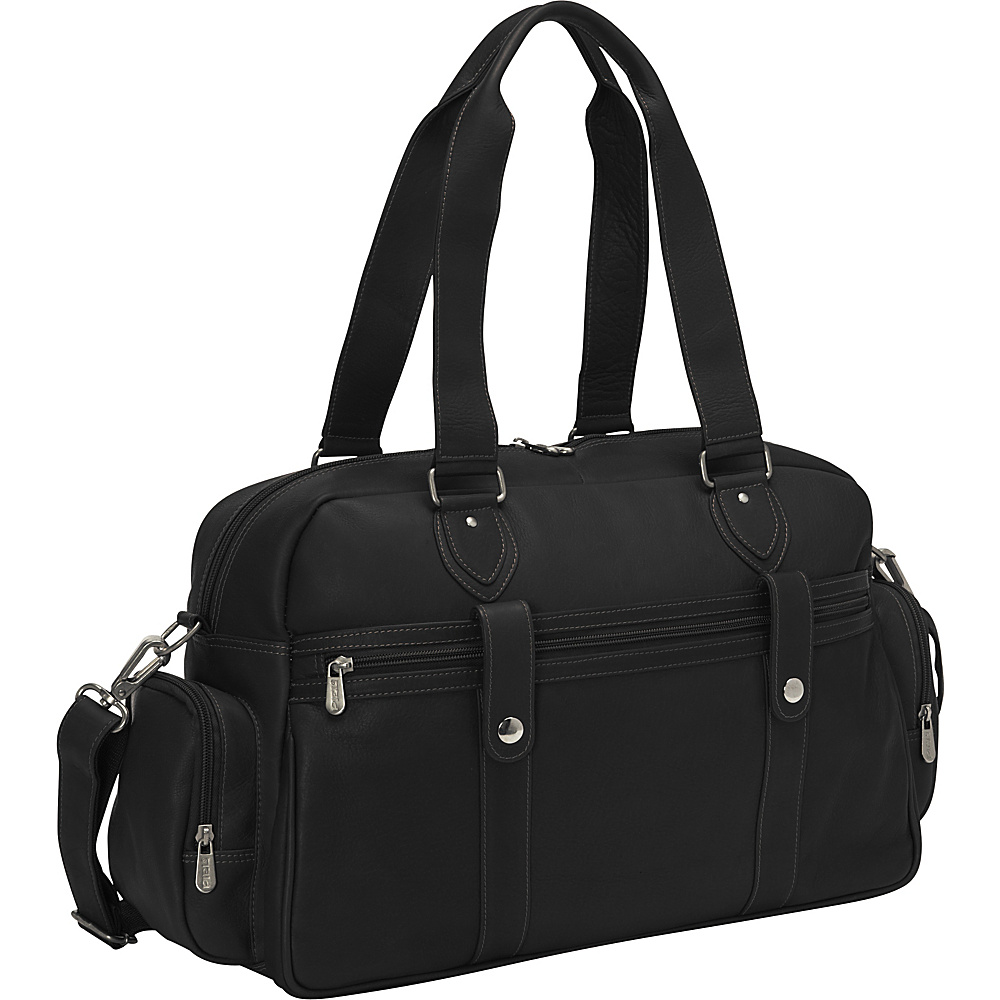 Piel Adventurer Carry-On Satchel Black - Piel Luggage Totes and Satchels