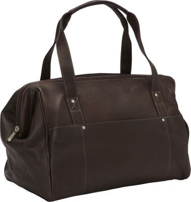Piel Wide Mouth Doctor Bag Chocolate - Piel Luggage Totes and Satchels
