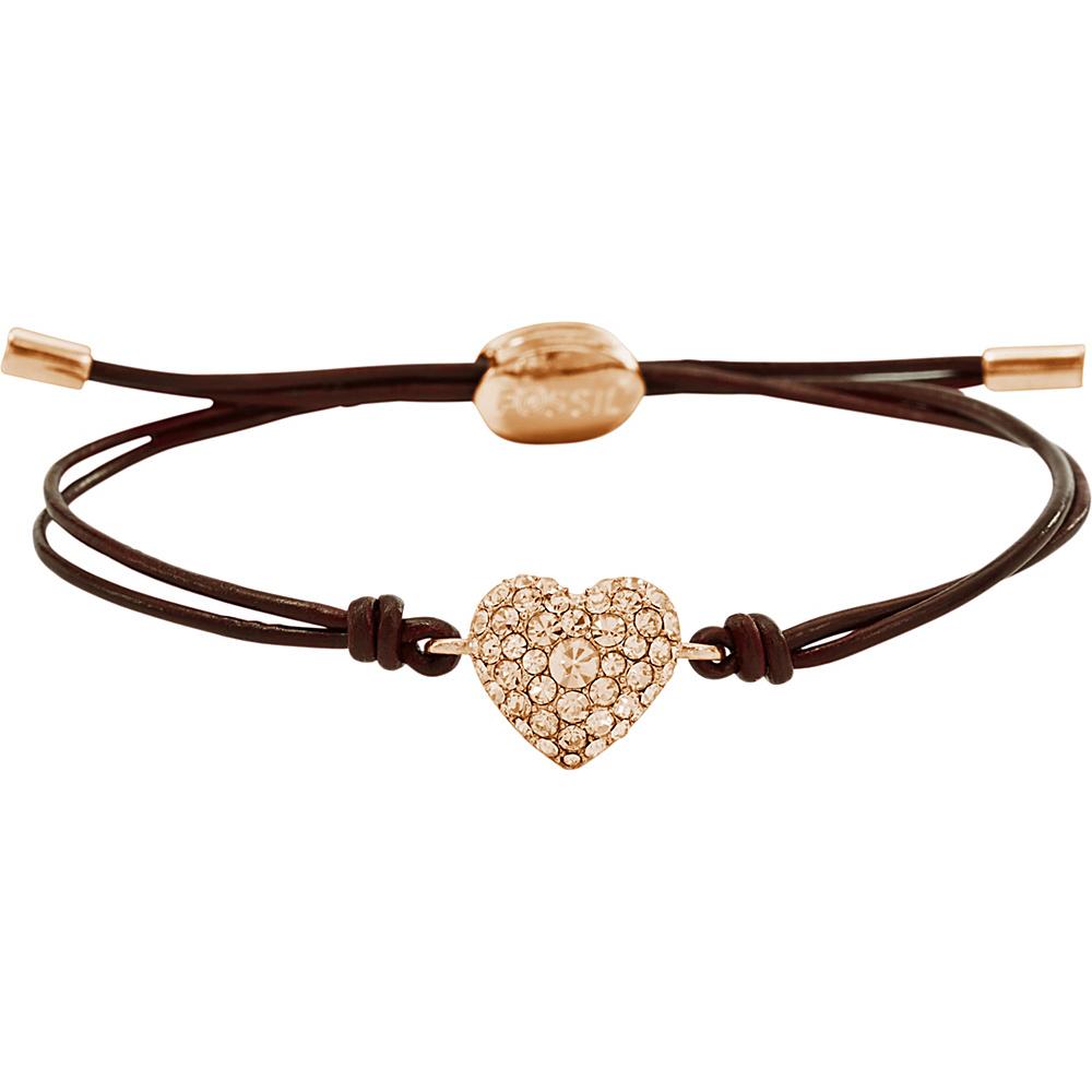 Fossil Glitz Heart Wrist Wrap Rose Gold - Fossil Other Fashion Accessories - Fashion Accessories, Other Fashion Accessories