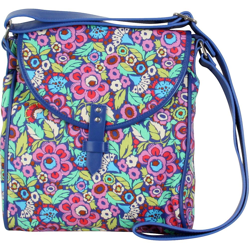 Amy Butler for Kalencom Broadway Crossover Bag Trapeze Field/Navy - Amy Butler for Kalencom Fabric Handbags