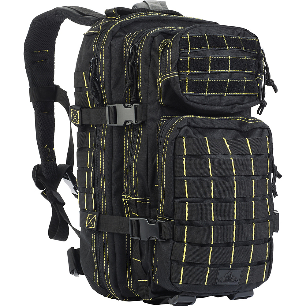 Red Rock Outdoor Gear Rebel Assault Pack Black Yellow Red Rock Outdoor Gear Day Hiking Backpacks