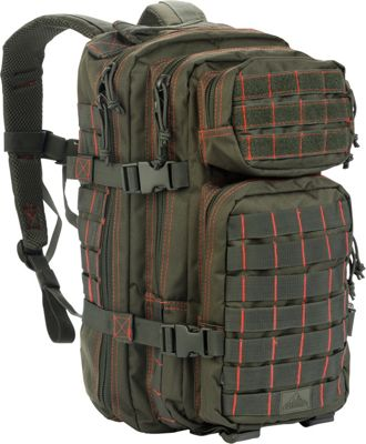 Red Rock Outdoor Gear Red Rock Outdoor Gear Rebel Assault Pack Olive Drab / Red - Red Rock Outdoor Gear Day Hiking Backpacks
