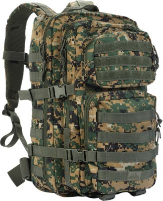 Red Rock Outdoor Gear Large Assault Pack Woodland Digital Camouflage - Red Rock Outdoor Gear Tactical