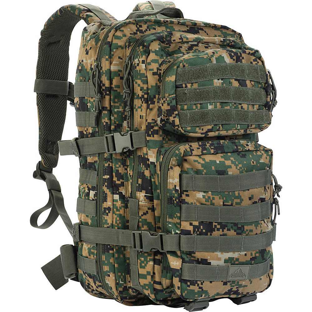 Red Rock Outdoor Gear Large Assault Pack Woodland Digital Camouflage Red Rock Outdoor Gear Day Hiking Backpacks