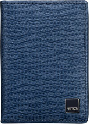 Tumi Monaco Gusseted Card Case with ID Cobalt - Tumi Mens Wallets