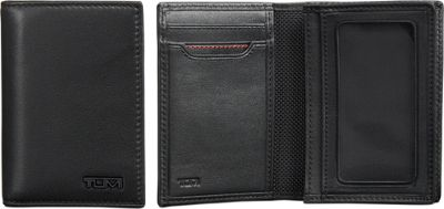 Tumi Delta Gusseted Card Case ID Black - Tumi Men's Wallets