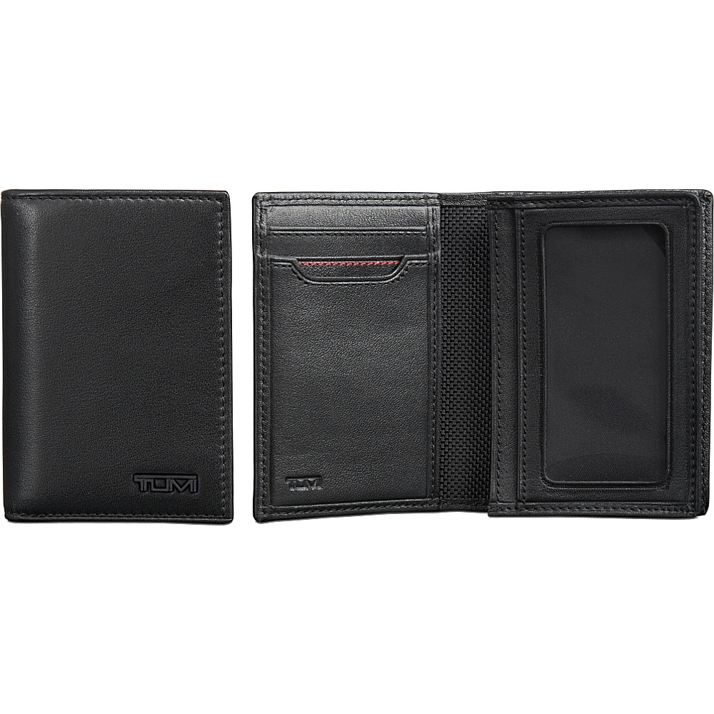 Tumi Delta Gusseted Card Case ID Black - Tumi Mens Wallets - Work Bags & Briefcases, Men's Wallets