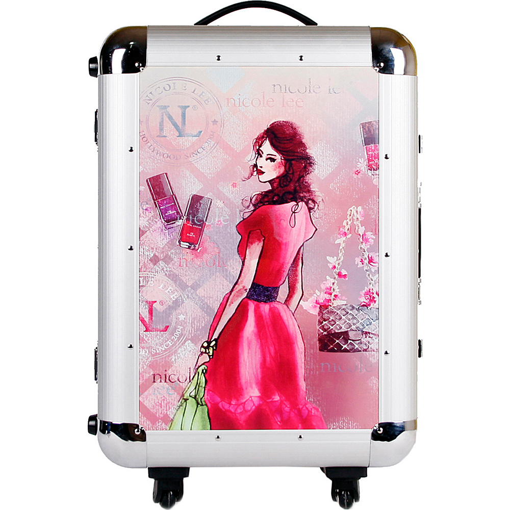 Nicole Lee Priscilla Aluminum 21 Rolling Carry On Spinner Daisy Nicole Lee Hardside Carry On