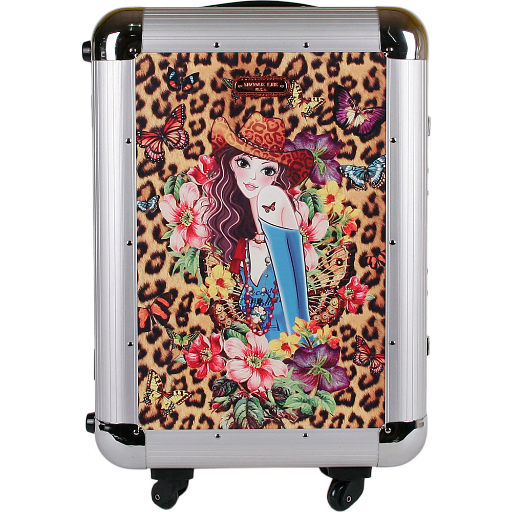 Nicole Lee Priscilla Aluminum 21 Rolling Carry On Spinner Sandra Nicole Lee Hardside Carry On