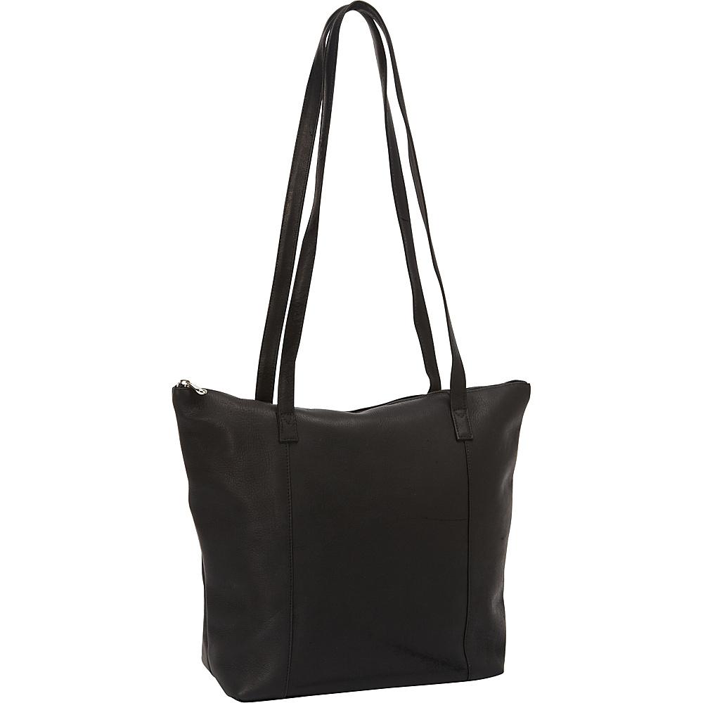 David King & Co. Shopping Tote Black - David King & Co. Leather Handbags