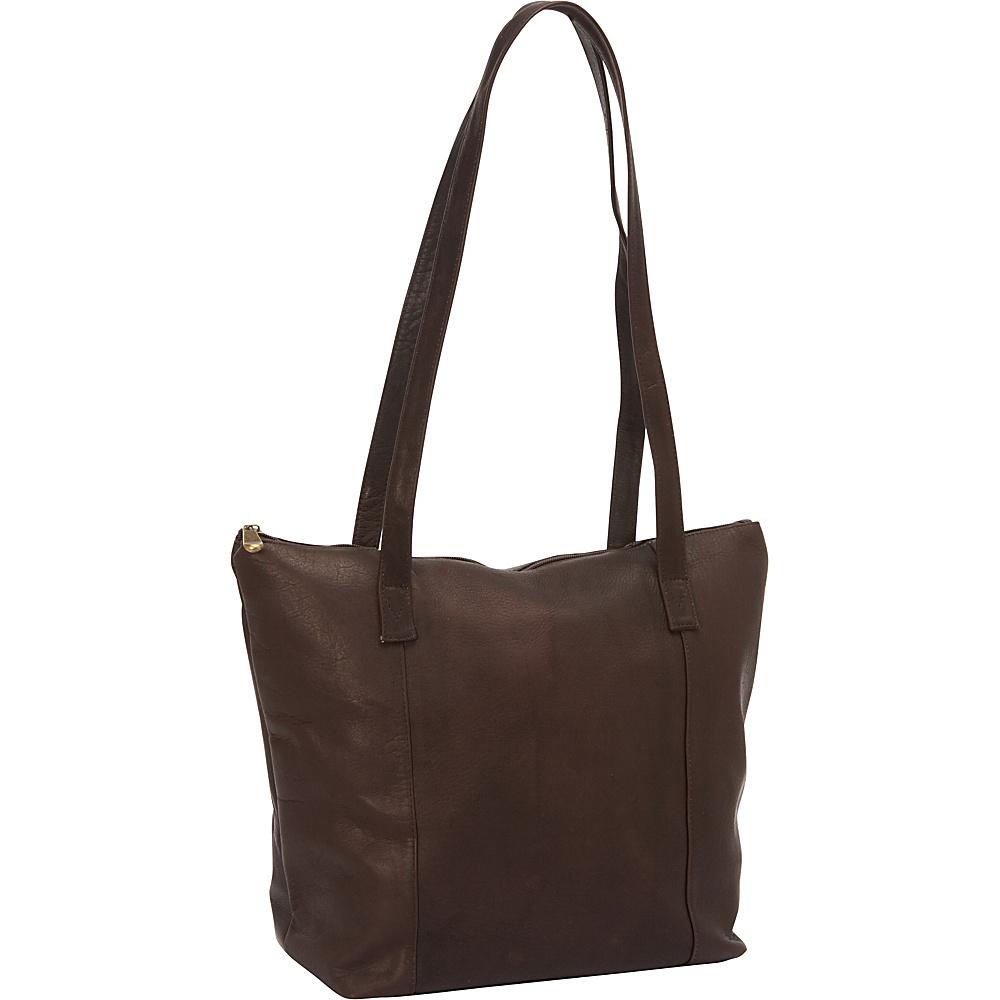 David King & Co. Shopping Tote Cafe - David King & Co. Leather Handbags