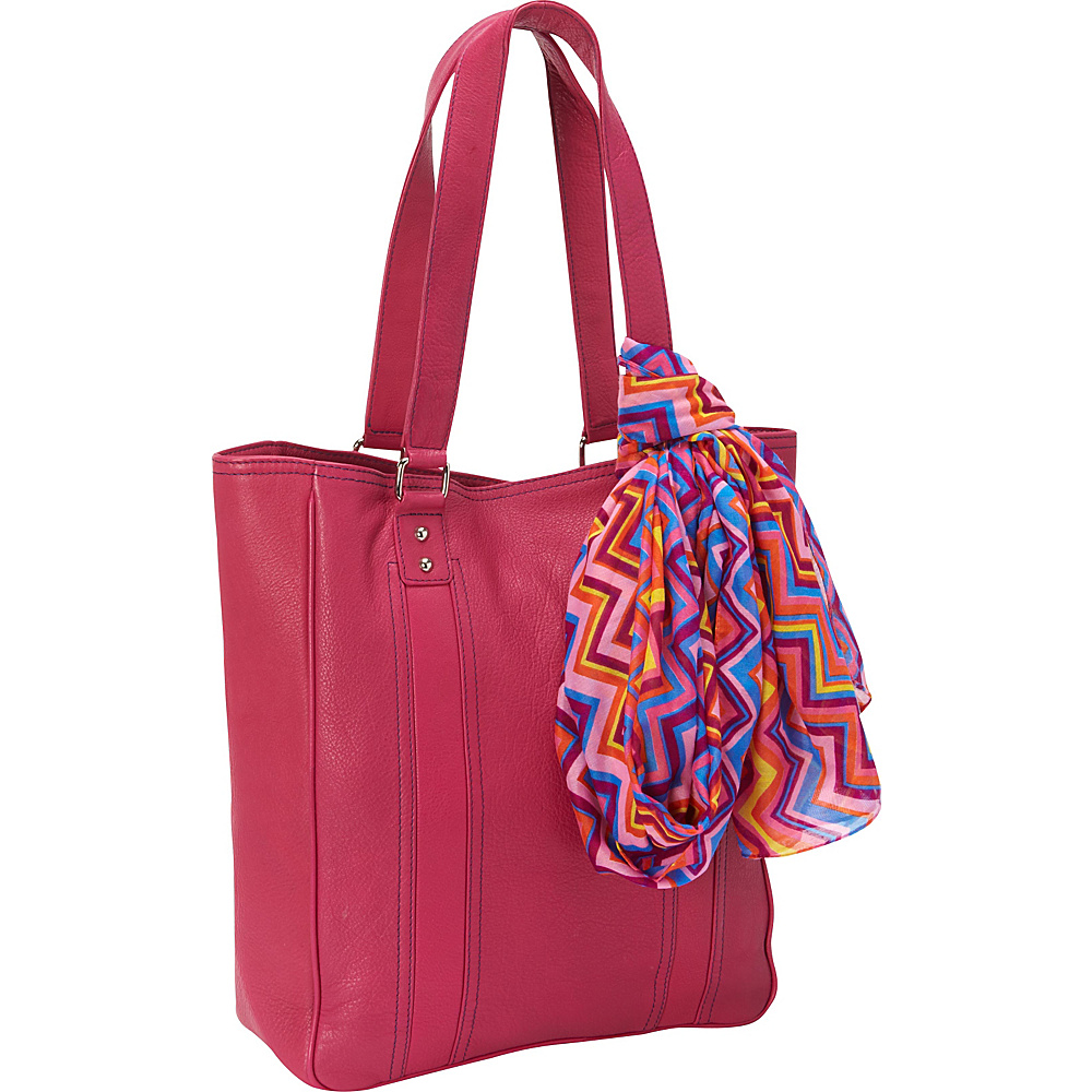 Hadaki City Tote Fuchsia - Hadaki Leather Handbags - Handbags, Leather Handbags