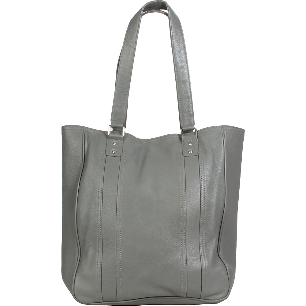 Hadaki City Tote Pewter - Hadaki Leather Handbags - Handbags, Leather Handbags