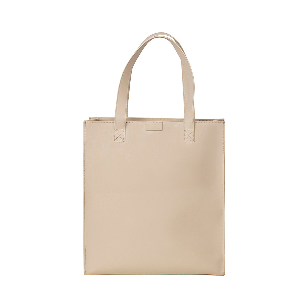 Paperthinks Long Wide Tote Bag Ivory Paperthinks Leather Handbags