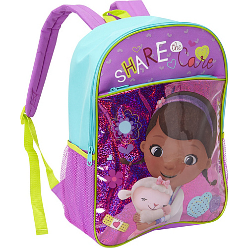 Disney Doc McStuffins Backpack Purple - Disney School & Day Hiking Backpacks