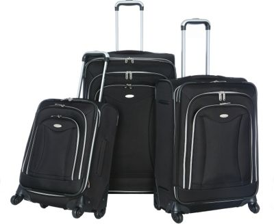 Olympia USA Olympia Luxe 3-Piece Luggage Set Black - Olympia USA Luggage Sets