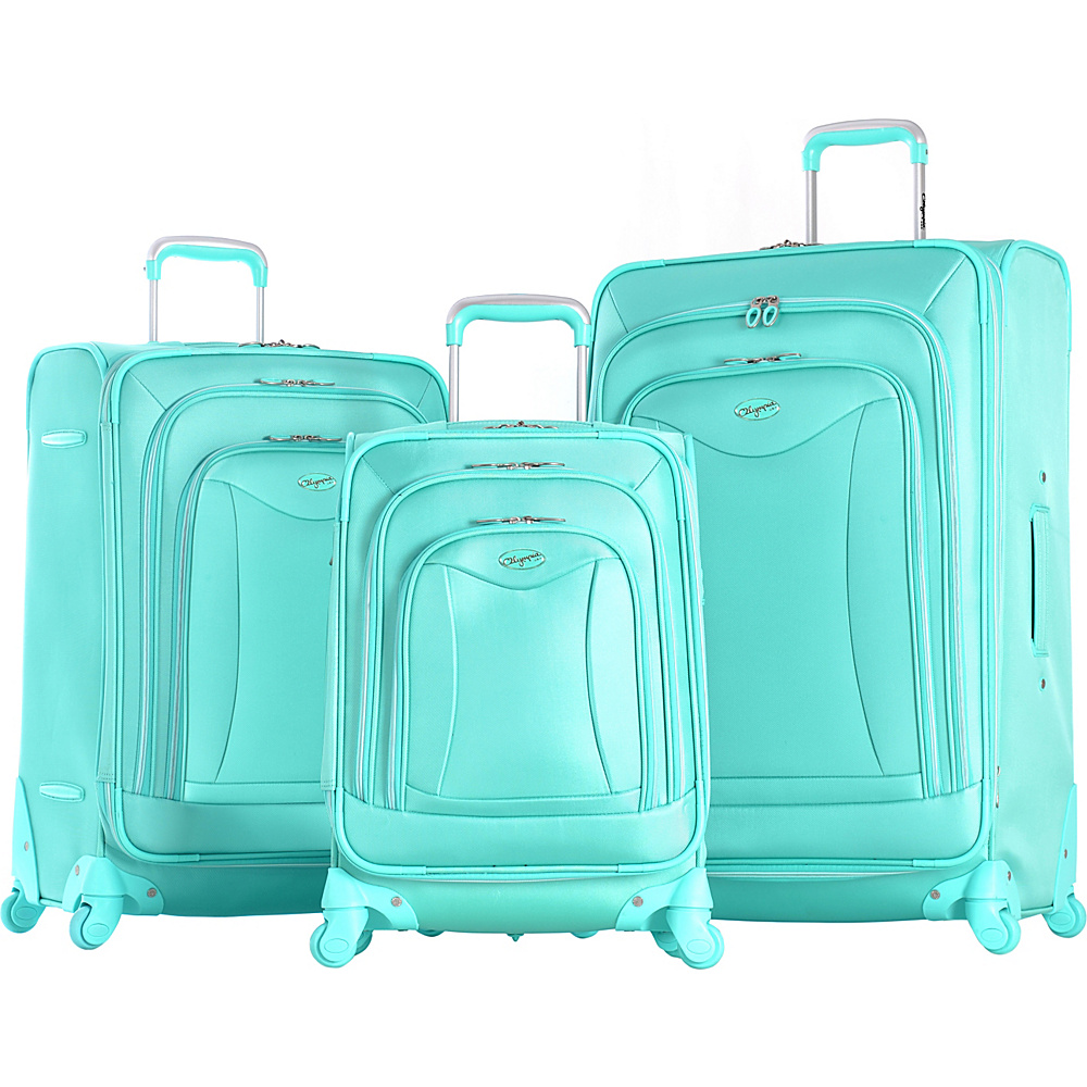 Olympia USA Olympia Luxe 3-Piece Luggage Set Mint - Olympia USA Luggage Sets