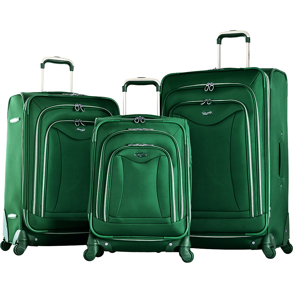 Olympia Olympia Luxe 3-Piece Luggage Set Green - Olympia Luggage Sets
