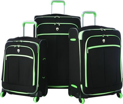 Olympia USA Evansville 3pc Luggage Set Lime - Olympia USA Luggage Sets