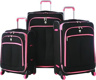 Olympia USA Evansville 3pc Luggage Set Pink - Olympia USA Luggage Sets