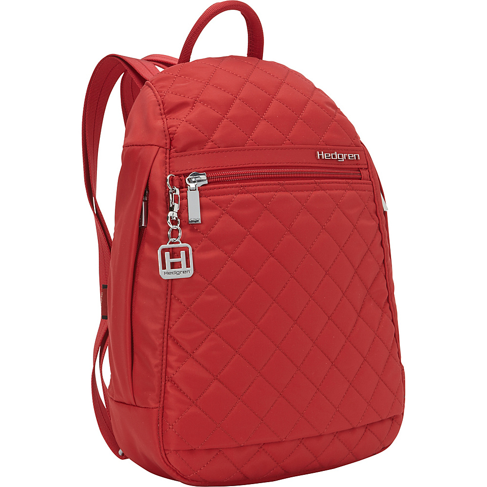 Hedgren Pat Backpack 02 Version New Bull Red Hedgren Fabric Handbags