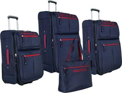 Nautica Maritime II 4 Pc Set Navy/Red - Nautica Luggage Sets