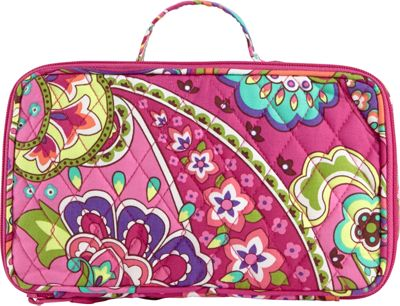 Vera Bradley Blush & Brush Makeup Case Pink Swirls - Vera Bradley Ladies Cosmetic Bags