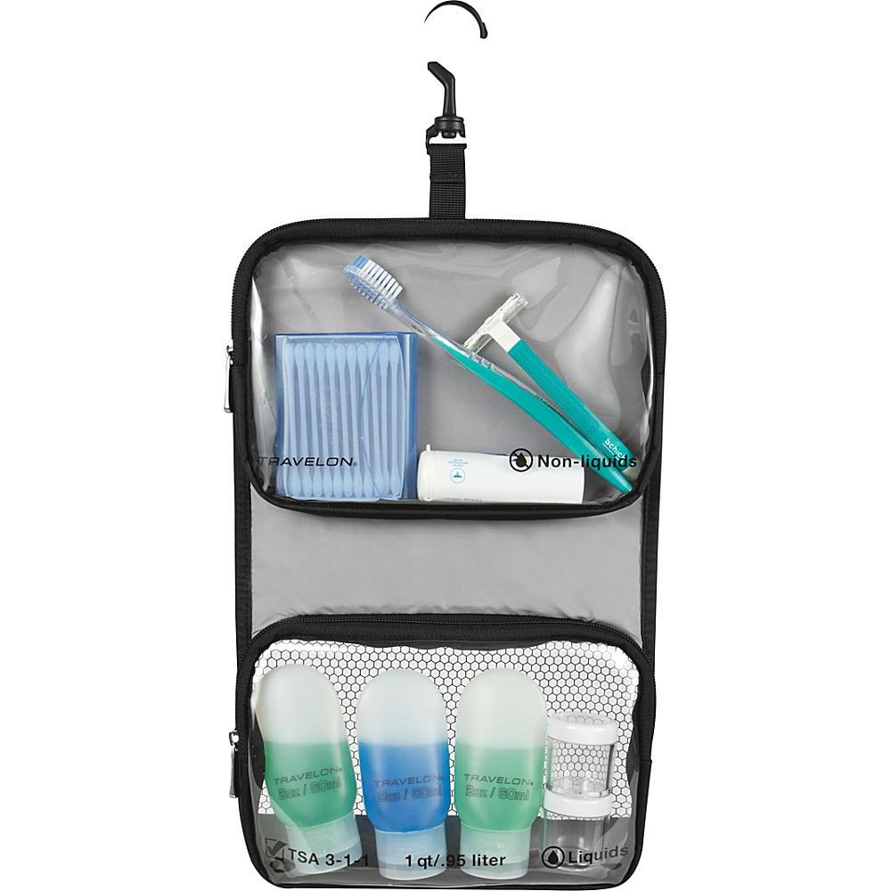 Travelon Wet/Dry 1 Quart Toiletry Kit Black - Travelon Toiletry Kits - Travel Accessories, Toiletry Kits