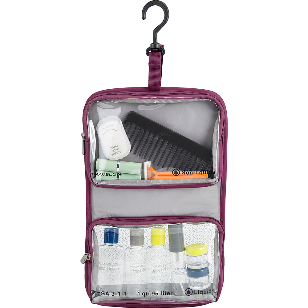 Travelon Wet/Dry 1 Quart Toiletry Kit Wineberry - Travelon Toiletry Kits - Travel Accessories, Toiletry Kits