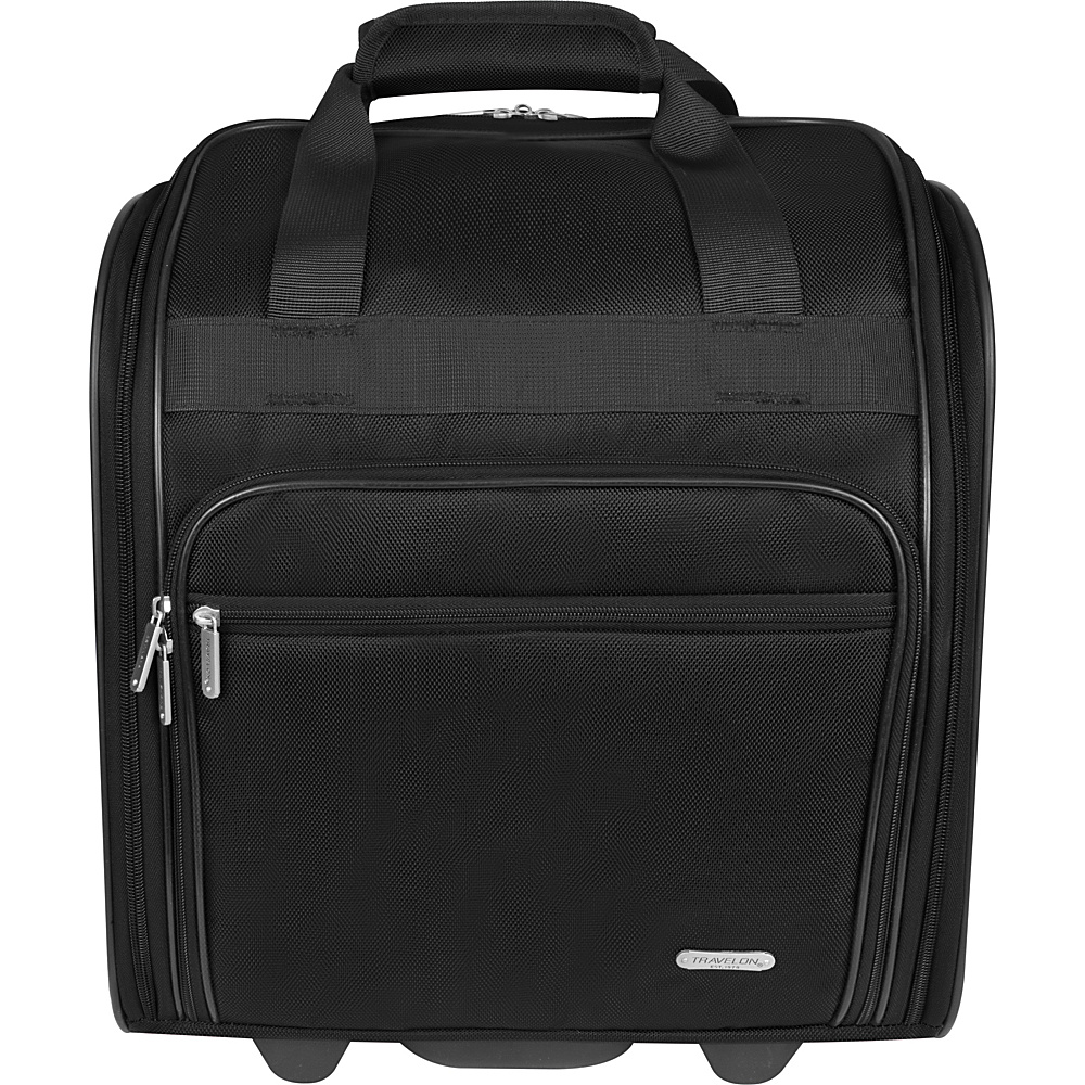 Travelon Wheeled Underseat Bag - 15 Black - Travelon Softside Carry-On - Luggage, Softside Carry-On
