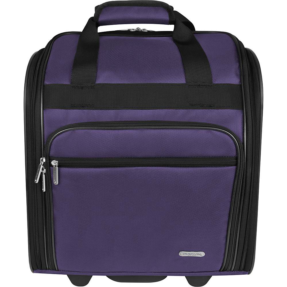 Travelon Wheeled Underseat Bag - 15 Purple - Travelon Softside Carry-On - Luggage, Softside Carry-On