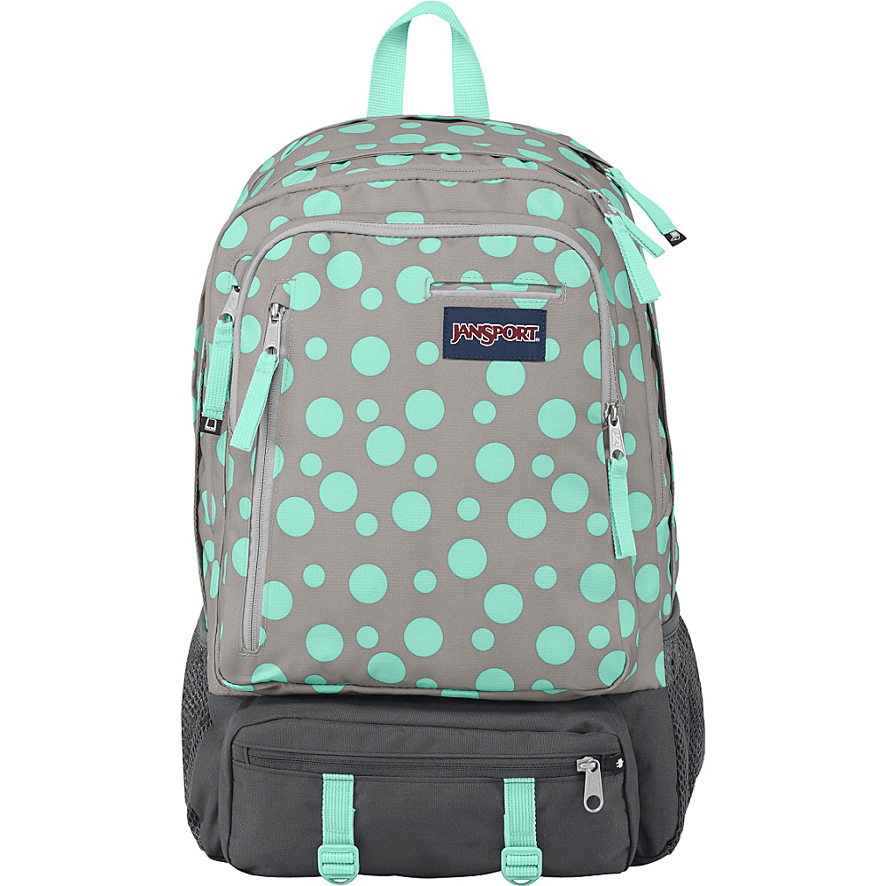 JanSport Envoy School Backpack Grey Rabbit Sylvia Dot - JanSport School & Day Hiking Backpacks - Backpacks, School & Day Hiking Backpacks