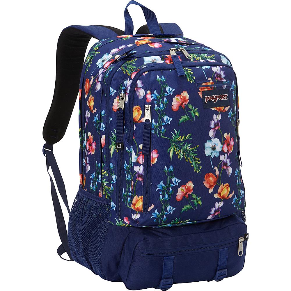 JanSport Envoy School Backpack Multi Navy Mountain Meadow - JanSport School & Day Hiking Backpacks - Backpacks, School & Day Hiking Backpacks