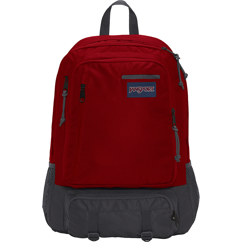 JanSport Envoy School Backpack Viking Red Triangle Dobby - JanSport Everyday Backpacks