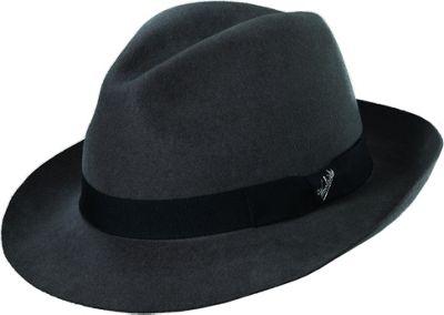 Woolrich Raw Edge Felt Safari Hat XL - Grey - Woolrich Hats/Gloves/Scarves