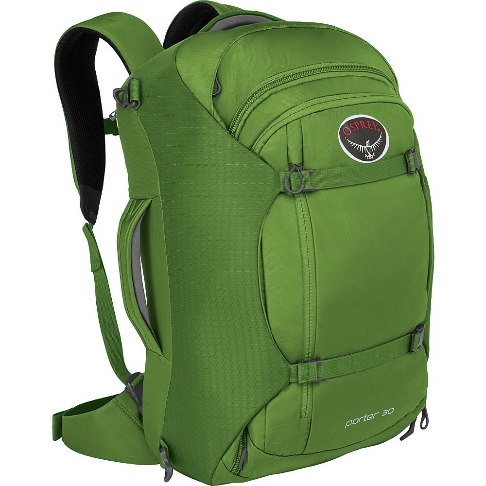 Osprey Porter 30 Travel Backpack Nitro Green - Osprey Travel Backpacks - Backpacks, Travel Backpacks