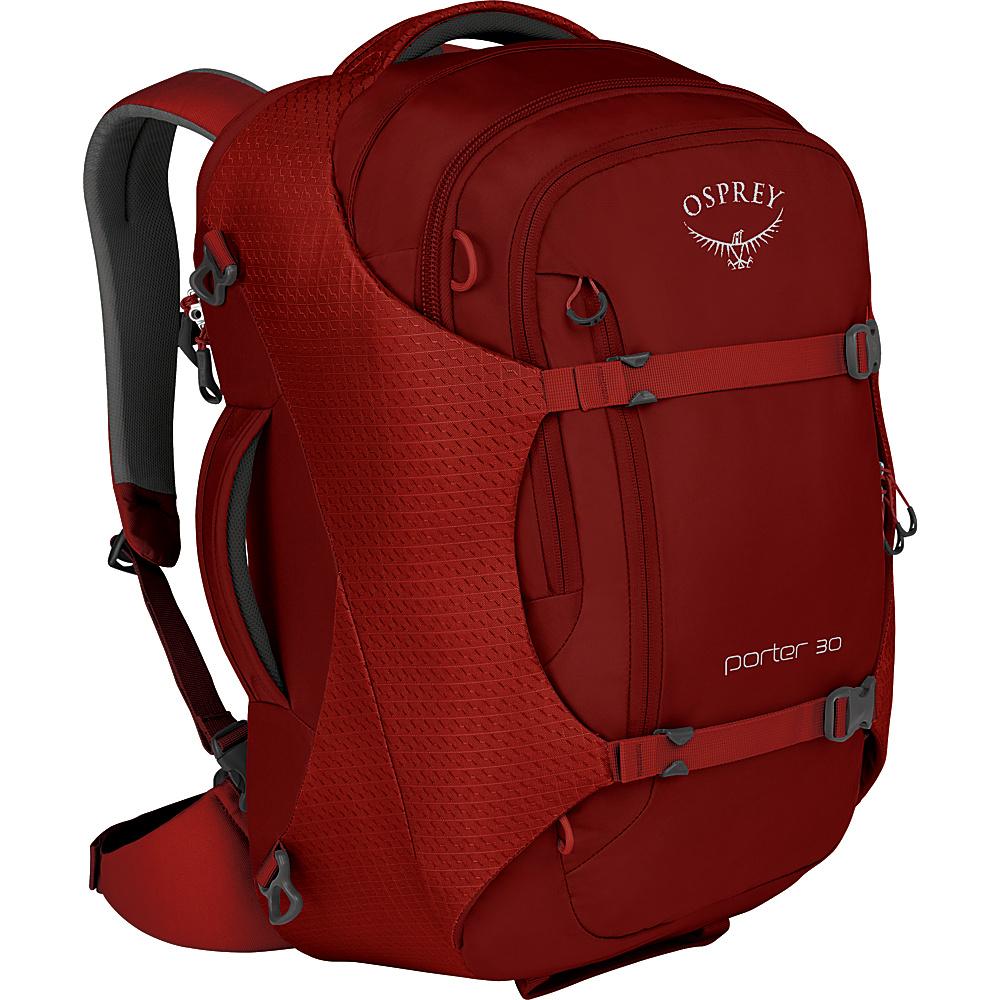 Osprey Porter 30 Travel Backpack Diablo Red - Osprey Travel Backpacks - Backpacks, Travel Backpacks