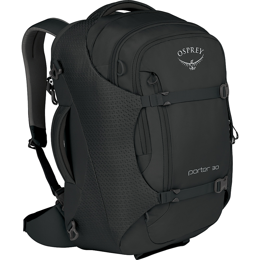 Osprey Porter 30 Travel Backpack Black - Osprey Travel Backpacks - Backpacks, Travel Backpacks