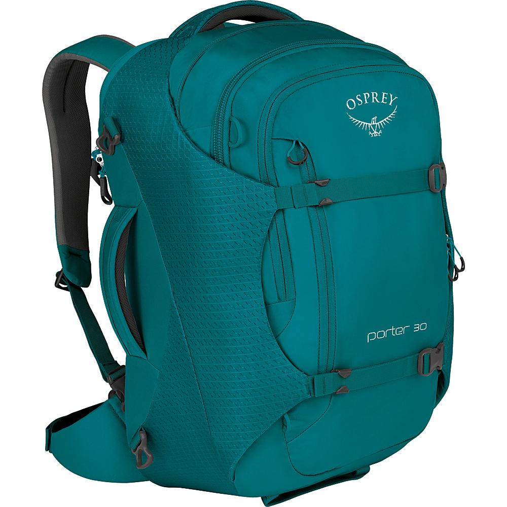 Osprey Porter 30 Travel Backpack Mineral Teal - Osprey Travel Backpacks - Backpacks, Travel Backpacks