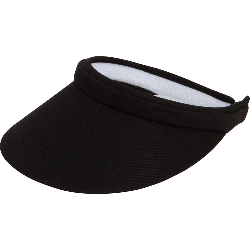 San Diego Hat Womens Snap Visor One Size - Black - San Diego Hat Hats/Gloves/Scarves