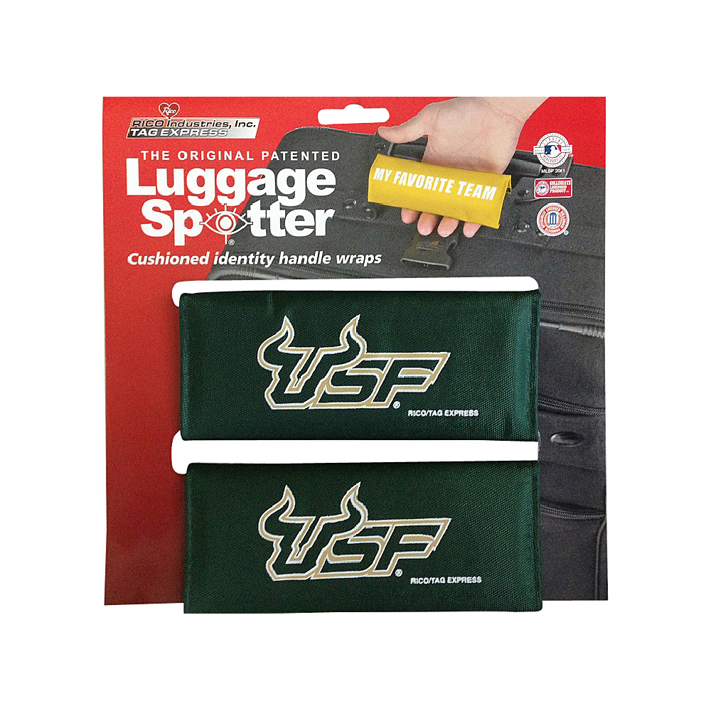 Luggage Spotters NCAA USF Luggage Spotter Green Luggage Spotters Luggage Accessories