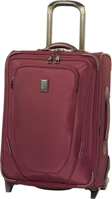 Travelpro Crew 10 20 inch Expandable Business Plus Rollaboard - CLOSEOUT Merlot - Travelpro Softside Carry-On