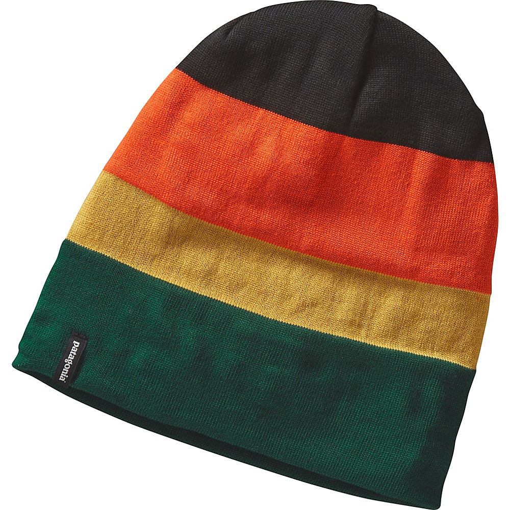 Patagonia Slopestyle Beanie One Size - Huck Stripe: Legend Green - Patagonia Hats/Gloves/Scarves - Fashion Accessories, Hats/Gloves/Scarves
