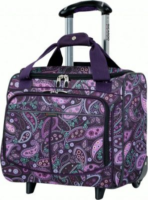 Ricardo Beverly Hills Mar Vista 16-Inch 2 Wheeled Rolling Tote Purple Paisley - Ricardo Beverly Hills Luggage Totes and Satchels