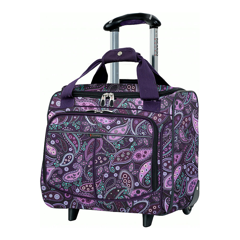Ricardo Beverly Hills Mar Vista 16 Inch 2 Wheeled Rolling Tote Purple Paisley Ricardo Beverly Hills Luggage Totes and Satchels