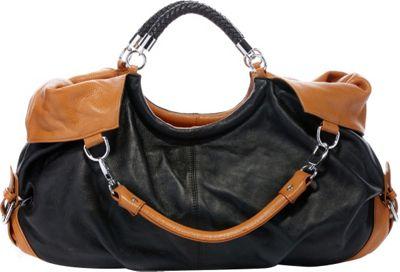 Vicenzo Leather Maselle Italian Leather Hobo Black - Vicenzo Leather Leather Handbags