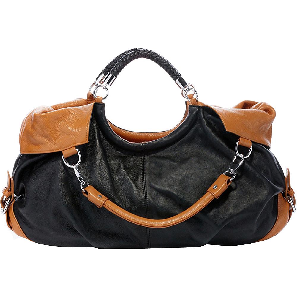Vicenzo Leather Maselle Italian Leather Hobo Black Vicenzo Leather Leather Handbags