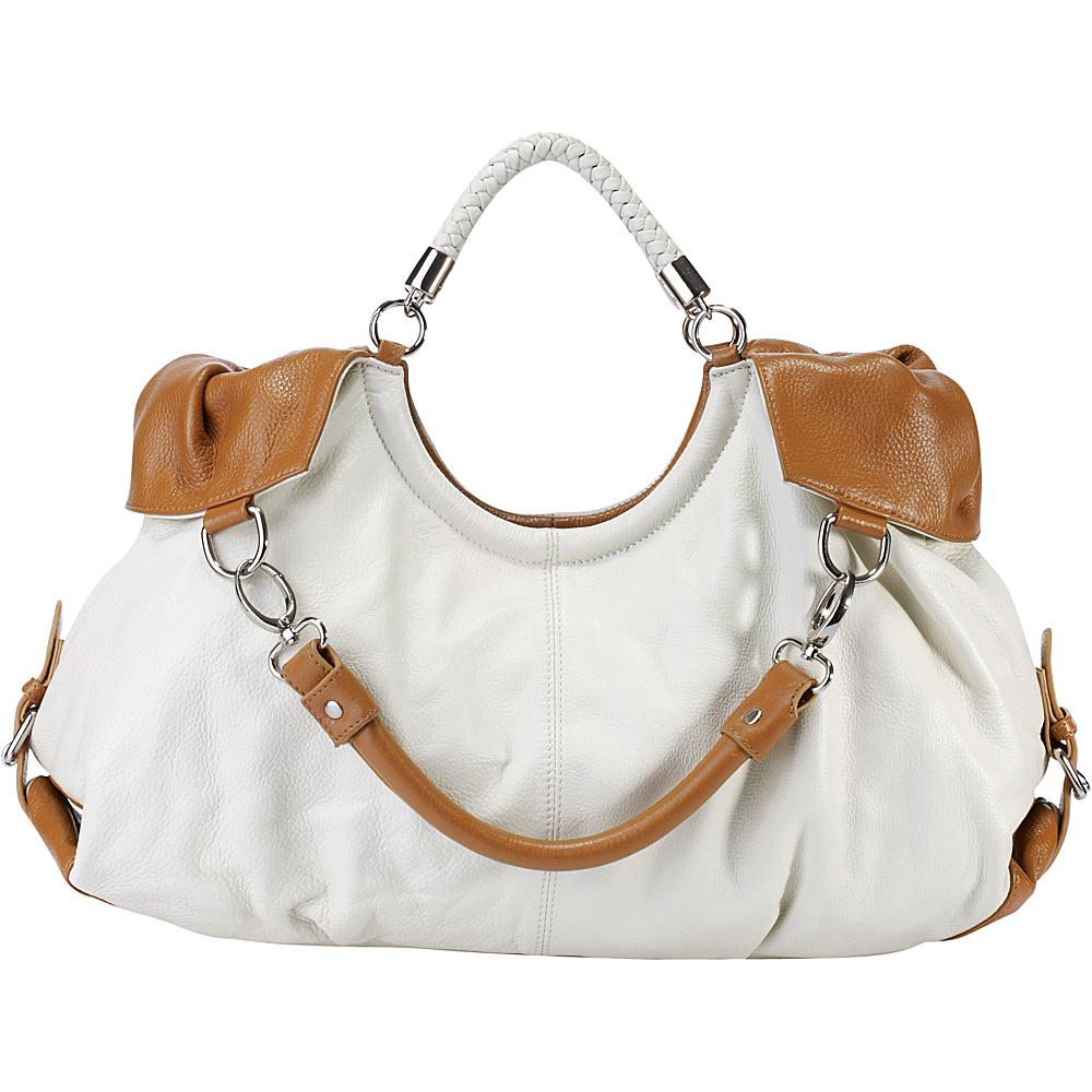 Vicenzo Leather Maselle Italian Leather Hobo White Vicenzo Leather Leather Handbags