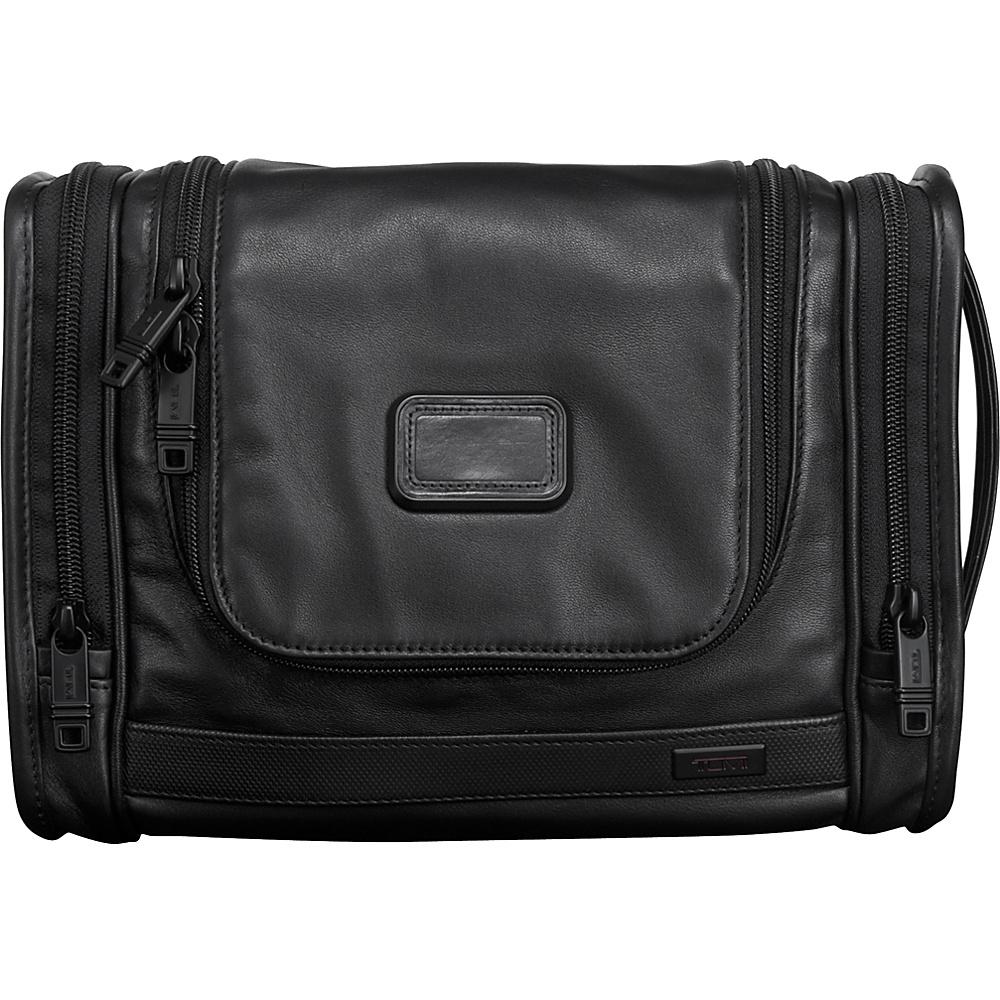 Tumi Alpha 2 Hanging Leather Travel Kit Black - Tumi Toiletry Kits - Travel Accessories, Toiletry Kits