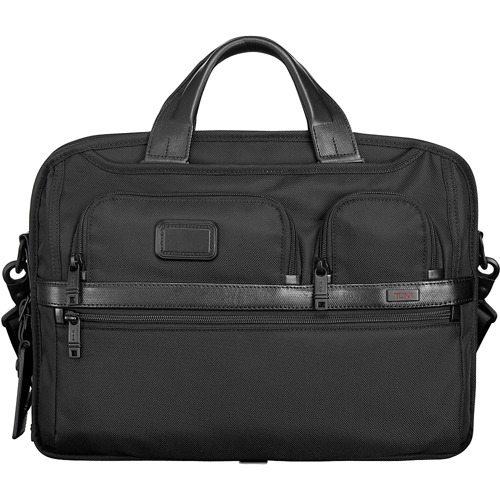 Tumi Tumi T Pass Medium Screen Laptop Slim Brief Black Tumi Non Wheeled Business Cases